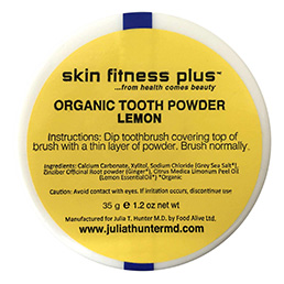 Organic Tooth Powder Lemon